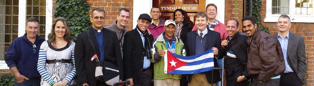 The Cubans in front of Tyndale House